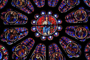 stained glass windows, Chartres